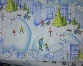 Henry Glass Christmas Village Fabric