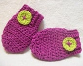Infant Mittens--Sweet Little Mittens, 0 to 3 mo size
