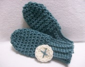 PDF crochet pattern, Sweet Little Mittens--Thumbless Baby Mittens