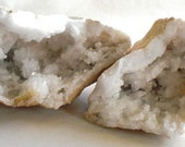 Calcite Geode, Crack the Geode to see what is Inside, 2 pieces, Set 5