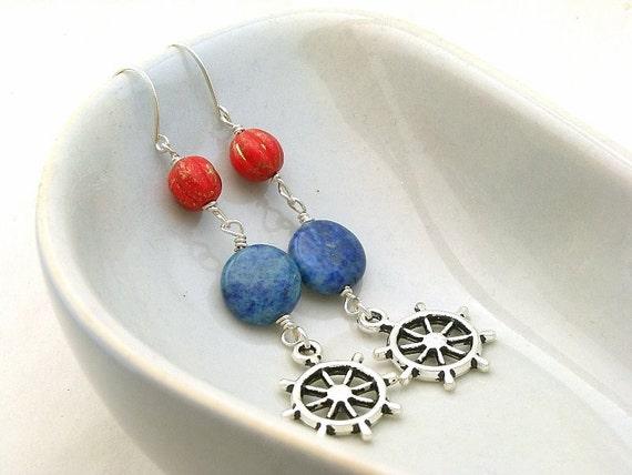 Sea Breeze earrings - Handmade  Sterling Silver earwire