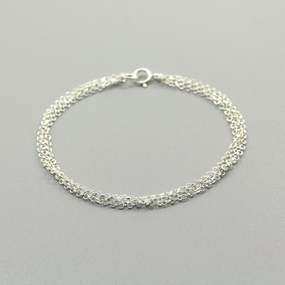 Sterling silver Bracelet - Three layers