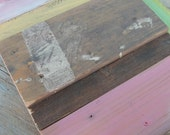 FREE SHIPPING Art work 'old barnwood and recycled wood'