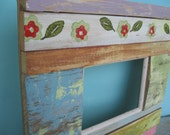 FREE SHIPPING Picture frame made from vintage  and recycled wood