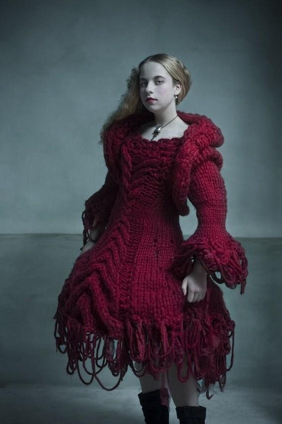 Red Riding Hood Knit Dress