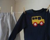 Boy's School Bus Top and Bottom Set