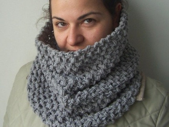 Cardigan Patterns Knitting Free : Cowl Knitting Pattern PDF pattern scarf Beginner by Ebruk