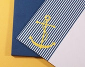 Yellow Anchor Stationery (Set of 5)