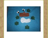 Five Green and Speckled Frogs - Felt Set - Teacher Resources