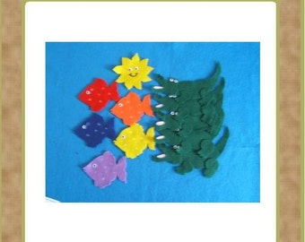Five Hungry Crocodiles- Felt Set and Teacher Resources