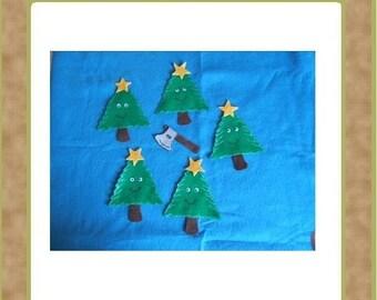 Five little Christmas Trees - Teacher Resources - Felt Set