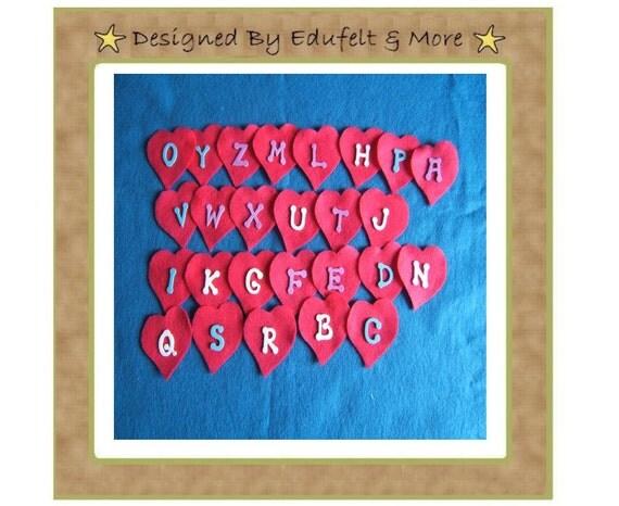 NEW Heart Alphabet - Felt Set