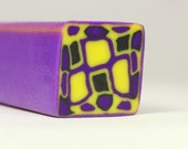 Mardi Gras Colors -  Unbaked Raw Polymer Clay Kaleidoscope Cane