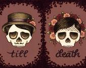 till death (set of two 5x7 prints)
