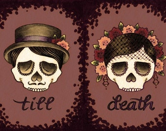 till death (set of two 5x7 prints)