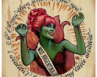 Miss Argentina (8x8 signed print)