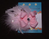 Pink Princess Couture Hair bow