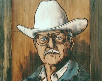 Custom woodburning portrait