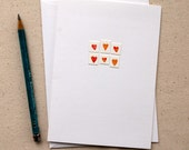 Mini Heart Collage Greeting Card