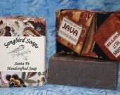 Coffee with Vanilla Bean  Soap Bar  Vegan Palm Oil Free