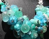 Sea Fairy Garden Statement Necklace