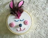TEACUPS for 15% off Mad Tea Party BNR Spec Bunny Hoop Art, Easter: Joey Feather Head
