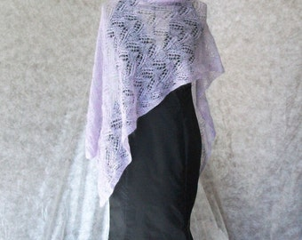 Super Kid Mohair / silk scarf, shawl - handmade wrap -  hand knitted lightweight shawl - hand knit lace shawl