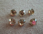 8mm SS39 Crystal Golden Shadow Chaton Point Back Swarovski Crystals (6 pc)