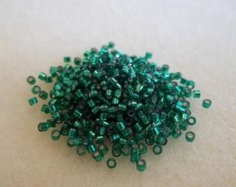 11/0 Delica Silver Lined Emerald DB605 (7.2 Grams)