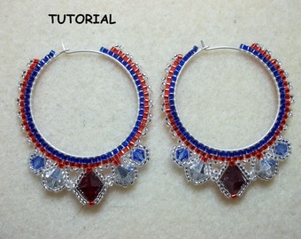 Haute Hoop Earrings PDF Bead Weaving Tutorial (INSTANT DOWNLOAD)