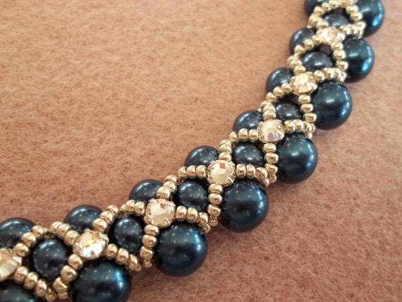 PDF Montee Embellished Pearl Collar Necklace (INSTANT DOWNLOAD)