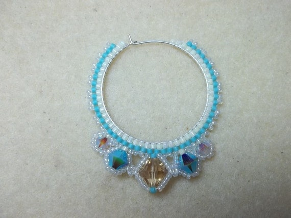 Haute Hoop Earring Kit Turquoise and Cream Colors