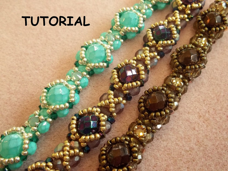 halo bracelet pdf beading tutorial pattern by offthebeadedpath
