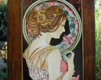 mucha liberty maiolica primrose 1899