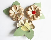 Paper BOUTONNIERES, CORSAGES and Cake Flowers with buttons