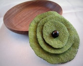 Sage Green Flower Brooch