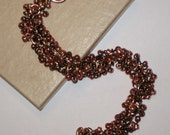 Copper Beaded Chain Maille Bracelet