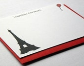 The Red Balloon Ecofriendly Personalized Stationery - Set of 10