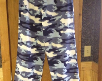 Blue Camouflage Fleece Lounge Pants