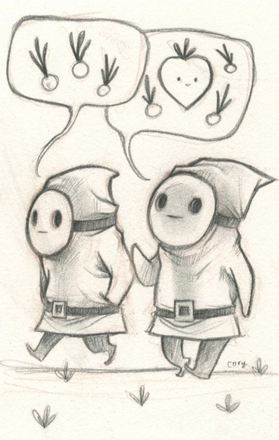 Shy Guys talking about onions
