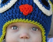 Crochet Owl Hat - Great For Photos or Everyday Fun