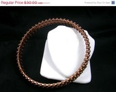 ON SALE Nubby Copper Bangle Bracelet