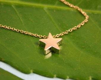 Gold STAR Necklace, Dainty Gold Necklace, Easter Spring trend, Birthday Gift for Wife, Cute Necklace, Mothers Day gift, Delicate Necklace