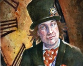 Black Friday, Cyber Monday Sale 20% Off Print from Original Painting Mad Hatter From Alice in Wonderland 5x7 by Catherine Darling