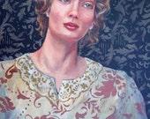 Original Art Painting Woman A Woman of Design II portrait