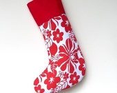Modern Holiday Stocking - Tropical Christmas - ready to ship  by speedpost, delivery in 4-5 days