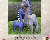Twiga Giraffe Softie Pattern and tag chew toy by Paula Storm Designs