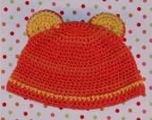 Little bear organic baby hat (newborn \/ 0-3 months)