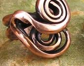 Unique solid copper ring