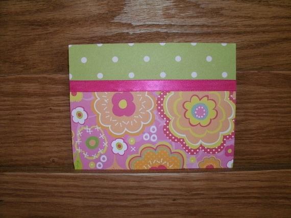 """Single card,Printed verse inside,""""LittleGirls"""" #3268"""